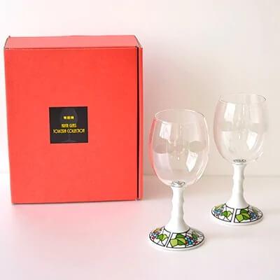 有田焼ペアワイングラス(ビートロ葡萄2個セット)