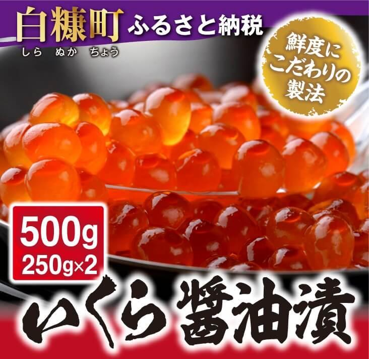 いくら醤油漬(鱒卵)【500g(250gx2)】イメージ
