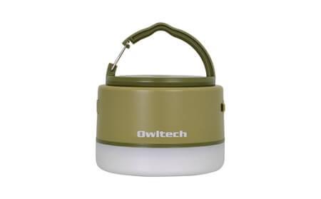 大容量モバイルバッテリー搭載 LEDキャンピングランタン 6700mAh USB Type-A × 1ポート出力 OWL-LPB6701LA-KH