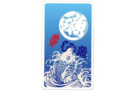 魚河岸柄モバイルバッテリー 4000mAh 青 イメージ