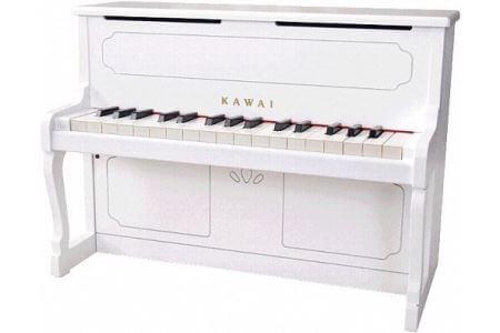 カワイミニアップライトピアノ ホワイト イメージ