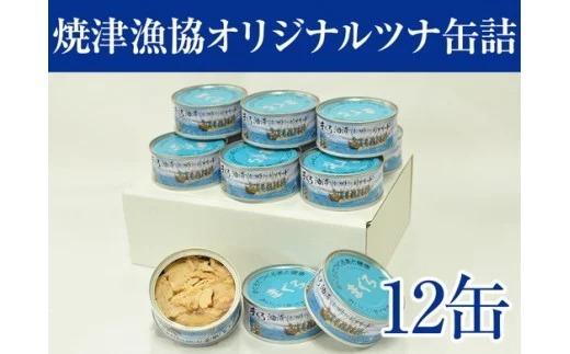 焼津漁協オリジナルツナ缶詰(まぐろ油漬け)12缶入 イメージ