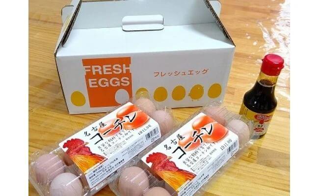名古屋コーチンの卵とたまり醤油のセット イメージ