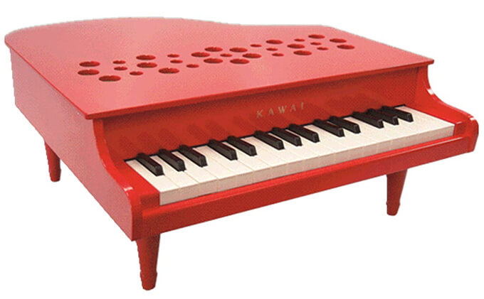 KAWAI ミニグランドピアノP‐32レッド イメージ