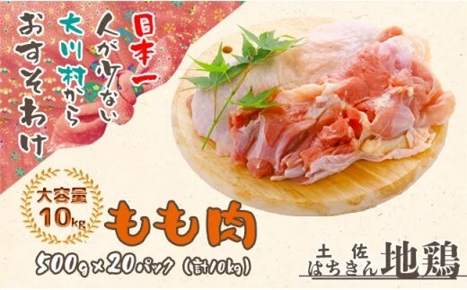 大川村はちきん地鶏 モモ肉10kg イメージ