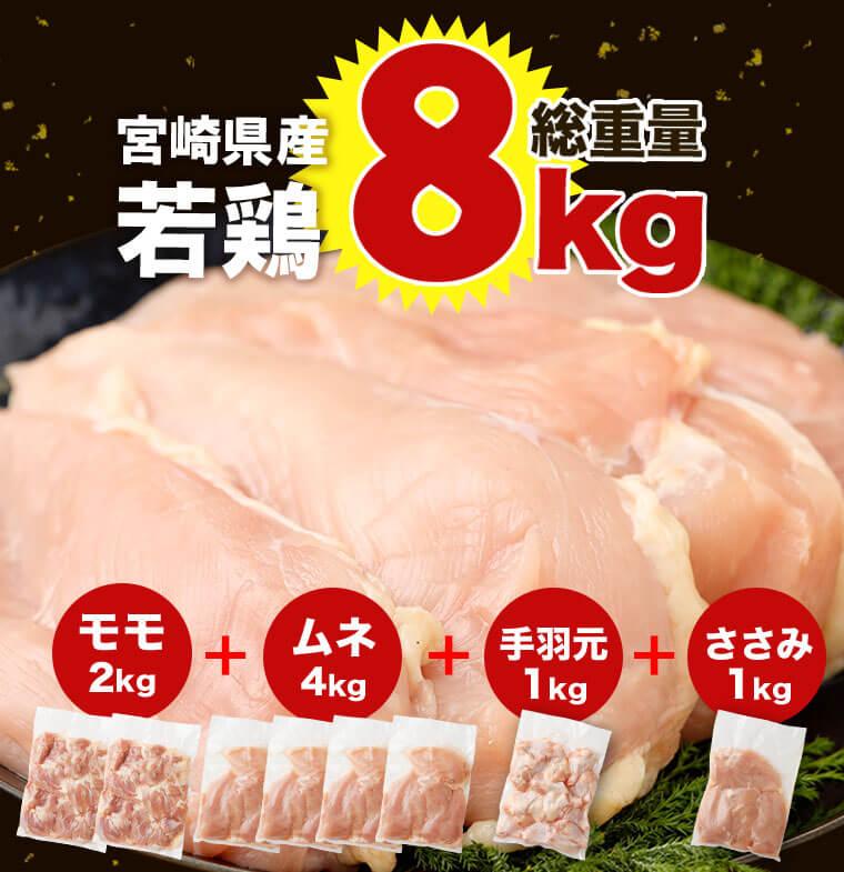宮崎県産 若鳥セット8kg イメージ