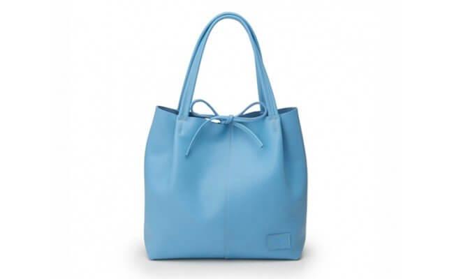 日本製 バレンシアトートバッグ ターコイズブルー