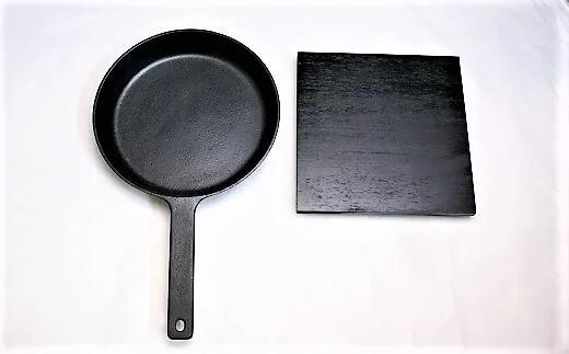 鉄鋳物フライパン・敷台付