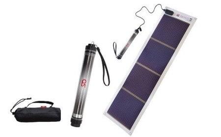 どこでも発電 ソーラーシートチャージャー10Wと防水LEDチャージャー イメージ