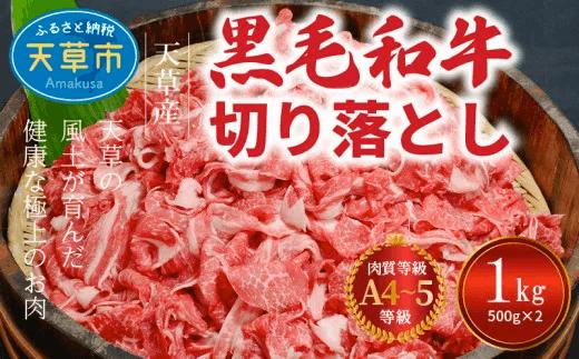 「熊本県天草産 黒毛和牛 切り落とし 1kg A4~A5ランク イメージ