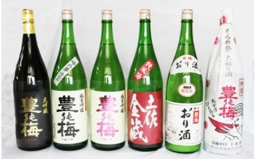 6種類の日本酒飲み比べ 豊能梅セット1800ml×6本