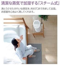 象印スチーム式加湿器【清潔・安心・安全・大容量】EEDB50-WA ホワイト