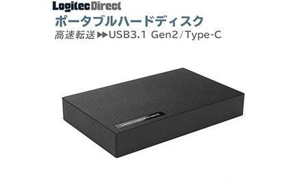 外付けHDD ポータブル 2TB USB3.1 Gen2 Type-C タイプC ハードディスク
