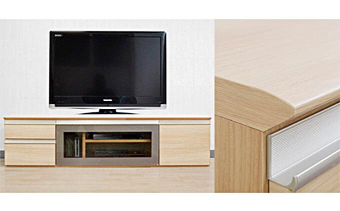 テレビ台 [ルッカ] 160cm幅 ナチュラル