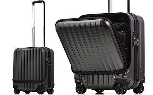 AVANT フロントオープン スーツケース 機内持ち込み対応サイズ S(エンボス/ガンメタリック) イメージ