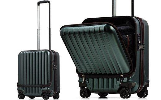 AVANT フロントオープン スーツケース 機内持ち込み対応サイズ S(エンボス/D.グリーン) イメージ