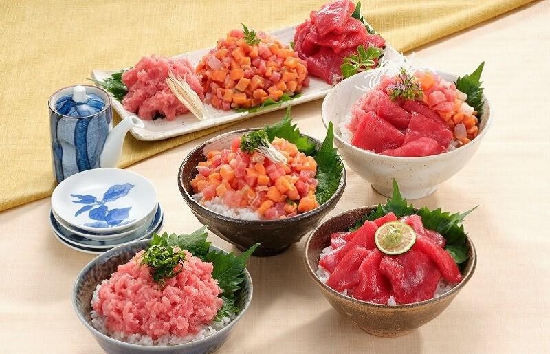 マグロ・サーモン丼ぶりセット1kg