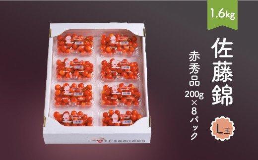 先行予約 さくらんぼ 佐藤錦 赤秀品 L玉 200g×8パック 2021年産 山形県産