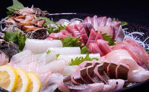 新鮮 旬魚 地魚 刺身盛り合わせ5~6人前(冷蔵)寄付金額30,000円