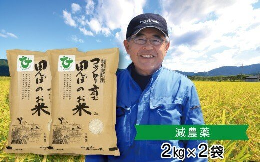 【令和3年産新米予約】特別栽培米 コウノトリ育む田んぼのお米 2kg×2袋〈村上ファーム〉