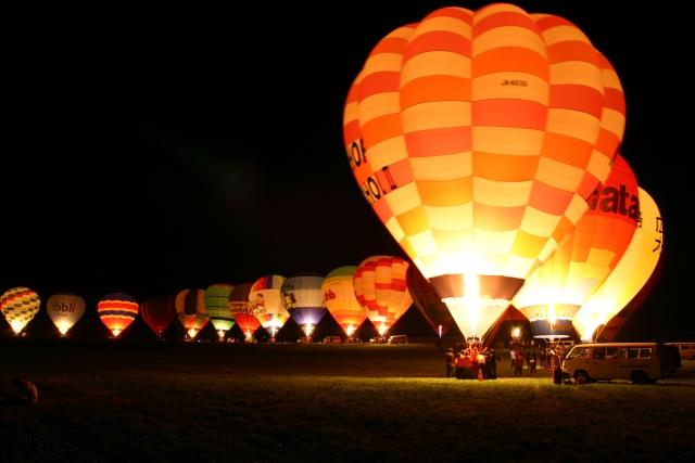 上士幌町の熱気球
