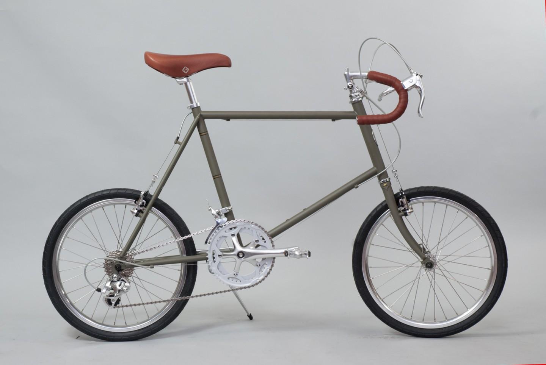 大阪府柏原市の返礼品自転車thePARK20D マットグリーン